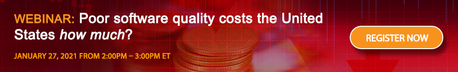WEBINAR: Poor software quality costs the United States how much?